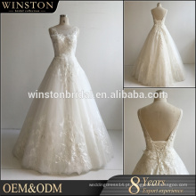 New arrival product wholesale Beautiful Fashion casamento vestidos meia manga