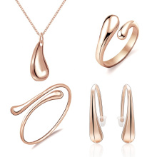 Simple Minimalist Latest Design Italian Jewellery 316L Stainless Steel Jewelry Set For Woman