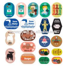 Papeterie étiquette imprimée colorée autocollant commun