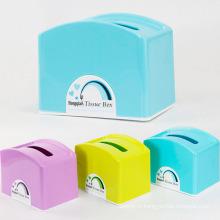 Boîte à tissus en plastique créative colorée pour les ménages (ZJH032)