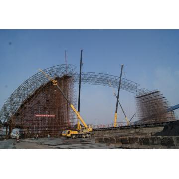 Space Frame Stahl Sturture Arch Kohle Lagerhalle