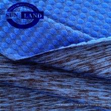 Sportbekleidung 90 Polyester 10 Spandex-Jacquardstrick-Melange-Spandex-Frottee
