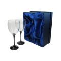 Boîte cadeau en verre de vin sur mesure en carton dur