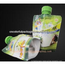 water bottle bag/plastic bottle water spout pouch/jiuce packing