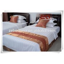 Чистый хлопок Конкурентоспособная цена Отель Б / У Белый комплект постельных принадлежностей