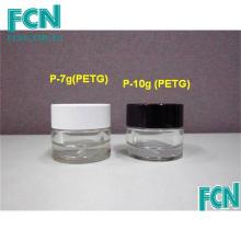 7g 10g negro o blanco cosmético cuidado de la piel crema botella jar recipiente de plástico