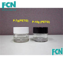 7g 10g Black or White cosmetic skin care cream bottle plastic jar container