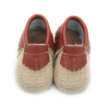 Grossist Populära Real Leather Baby Moccasins