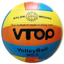 Three Color 18 Panels Rubber Volleyball for Sporting