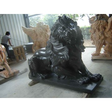 Stein Granit Marmor Löwen Skulptur für Garten Tier Statue (SY-D057)