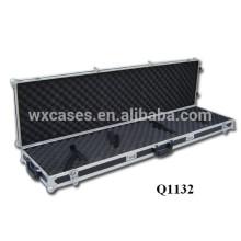 caja de arma de alta calidad del rifle de aluminio de la venta caliente con 2 ruedas de la fábrica de China