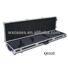 hot sell high quality aluminum rifle gun case with 2 wheels from China factory