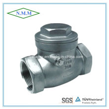 Stainless Steel Screw End Swing Disc Check Valve with Thread End