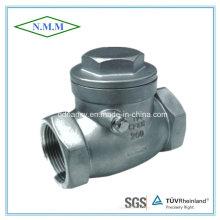 Parafuso de aço inoxidável Fim da válvula de retenção do disco de oscilação com extremidade do fio