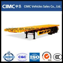 Cimc 40 Feet 3 Axle Pritsche Anhänger 40 Ton