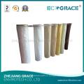Bolsas de filtro de alta temperatura Bolsa de filtro de fibra de vidrio