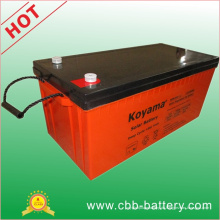 12V 200ah tiefe Zyklus-Gel-Solarbatterie für Sonnensystem