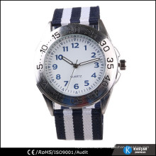 nylon stripe sport watch alloy case