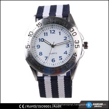 nylon stripe sport watch alloy case