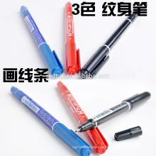 Ручка-маркер для кожи татуировки, черный / красный / синий, маркеры для тела для татуировки