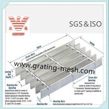 Caillebotis galvanisé / standard / en acier pour centrale électrique