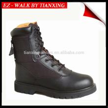 Botas militares MA1 con suela de goma y cuero negro
