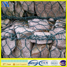 PVC Coated Wire Cages Rock Retaining Wall