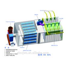 Sistema de filtro de tambor de alta eficiência para produtos descartáveis macios, têxteis, plástico, fibra de vidro e produtos de papel