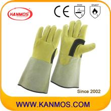 Подлинная натуральная кожа Промышленная безопасность сварочные работы перчатки (11125)