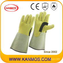 Genuine Cowhide Leather Industrial Safety Welding Work Gloves (11125)