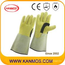 Подлинная натуральной кожи промышленной безопасности сварки рабочие перчатки (11125)