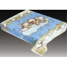 100% polyester Cartoon printed baby blanket