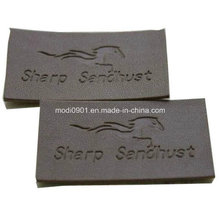 Stamping Leather Patch for Jean Custom Embossed Branded PU Leather Patch Laser Cut Leather Logo Patch