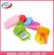 Hot selling latest design ladies silicone coin purse
