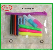 PVC bag stationery set for school kids