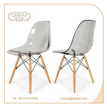 прочный заводская цена кристалл пластик салон кресло для продажи
