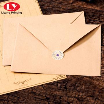 Günstiger Umschlag gedruckt benutzerdefinierte Logo Kraftpapierumschlag