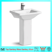 Vente en gros Best Price Square Sink Nouveau design White Wash Pedestal Basin