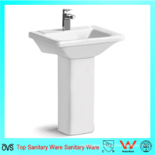 Wholesale Best Price Square Sink New Design White Wash Pedestal Basin