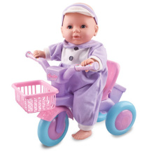 Plastic Baby Doll Set with Bicycle (H0318236)