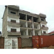 Cinco pisos Prefab construcción de estructuras de acero High Rise Building