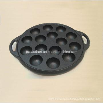 Utensilios de hornear de hierro fundido de Preseasoned para la torta