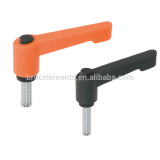 Adjustable Clamp Levers Screw with plastic push-button BK38.0302
