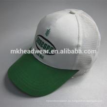 Moda 6 malla de malla de gorra de béisbol con logotipo de bordado