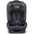 Baby car seat with orange grey cover