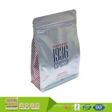 La máquina de la fábrica hace que la muestra modificada para requisitos particulares imprima el bolso plano inferior de la hoja del escudete del lado de la impresión para el café Packagin