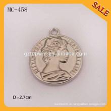 MC458 logotipo elegante gravado China metal pendurar tag para vestuário