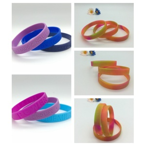 Personalized Debossed Silicone Wristbands for Promotion