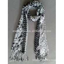Print pashmina 100% cashmere scarf