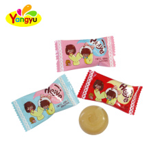 Halal candy individual package milk round hard candy